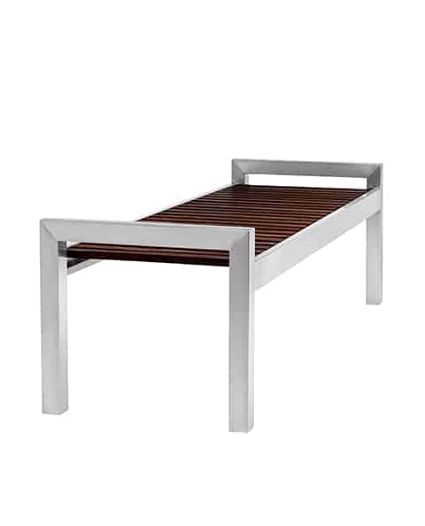 Terrific Skyline Woodgrain And Stainless Steel Bench Gmtry Best Dining Table And Chair Ideas Images Gmtryco