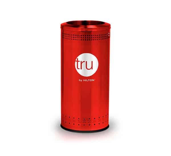 Tru by Hilton Custom Branded Litter Receptacle | Commercial Zone