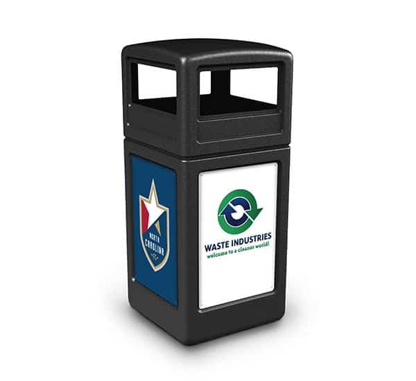 Waste Industries Custom Branded Receptacle | Commercial Zone