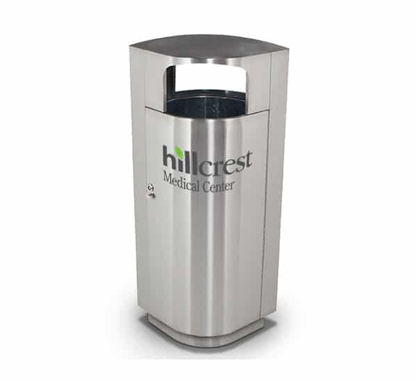 Hillcrest Medical Center Custom Branded Receptacle | Commercial Zone
