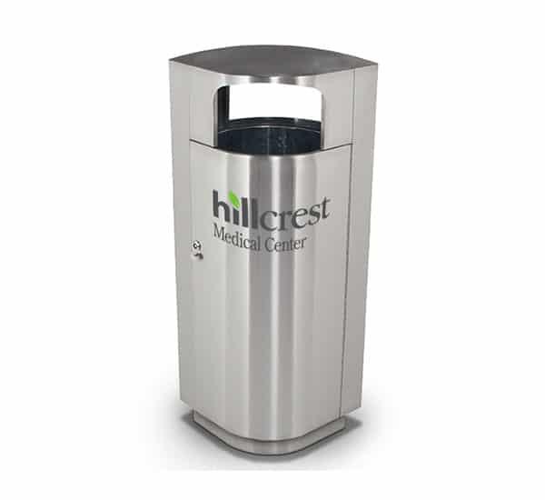 Hillcrest Medical Center Custom Branded Receptacle | Commercial Zone