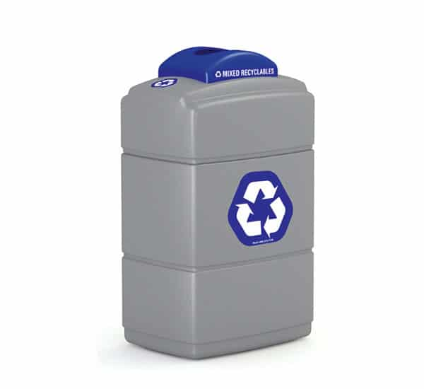 Custom Branded Recycling Receptacle | Commercial Zone