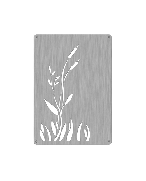 Recycle42 Stainless Steel Panels, Cattails