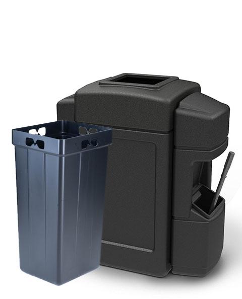 Aruba 4 Double-Sided Waste/Windshield Service Center Black