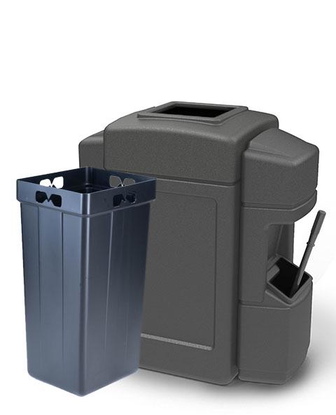Aruba 4 Double-Sided Waste/Windshield Service Center Gray